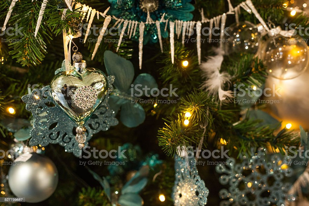christmas mood with ball stock photo