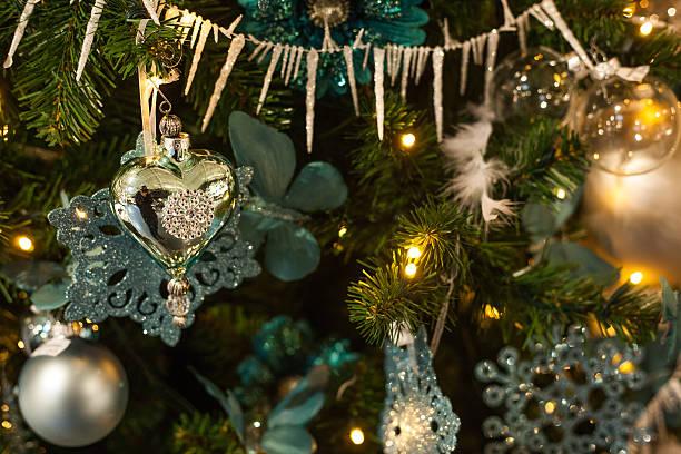 christmas mood with ball stock photo