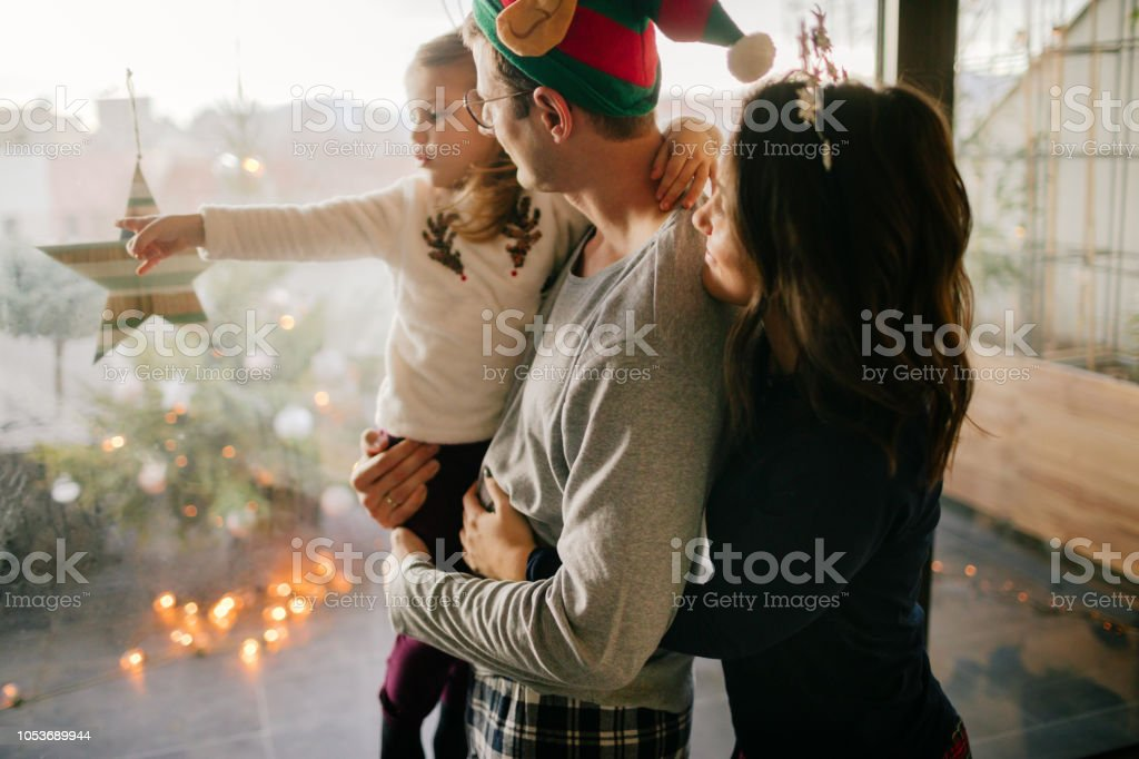 Weihnachtsmorgen mit meiner Familie – Foto