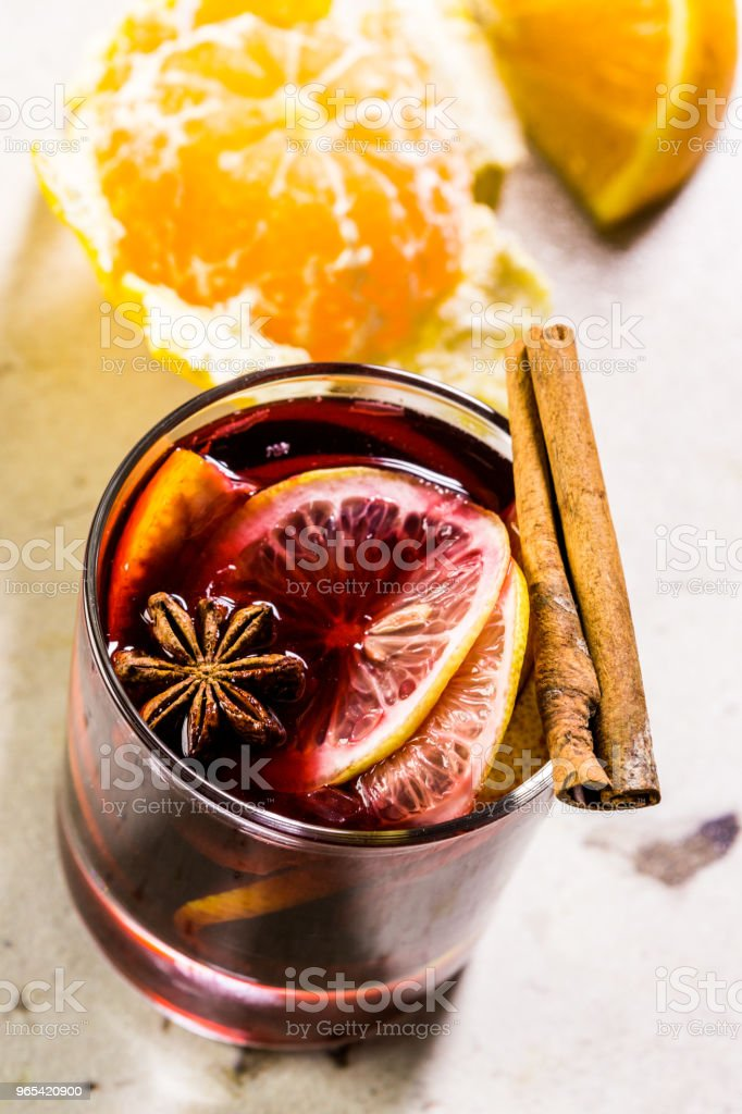 Christmas mulled wine royalty-free stock photo
