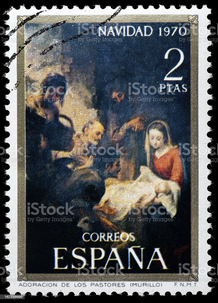 Christmas, Murillo Painting, Adoration of the Shepherds stock photo