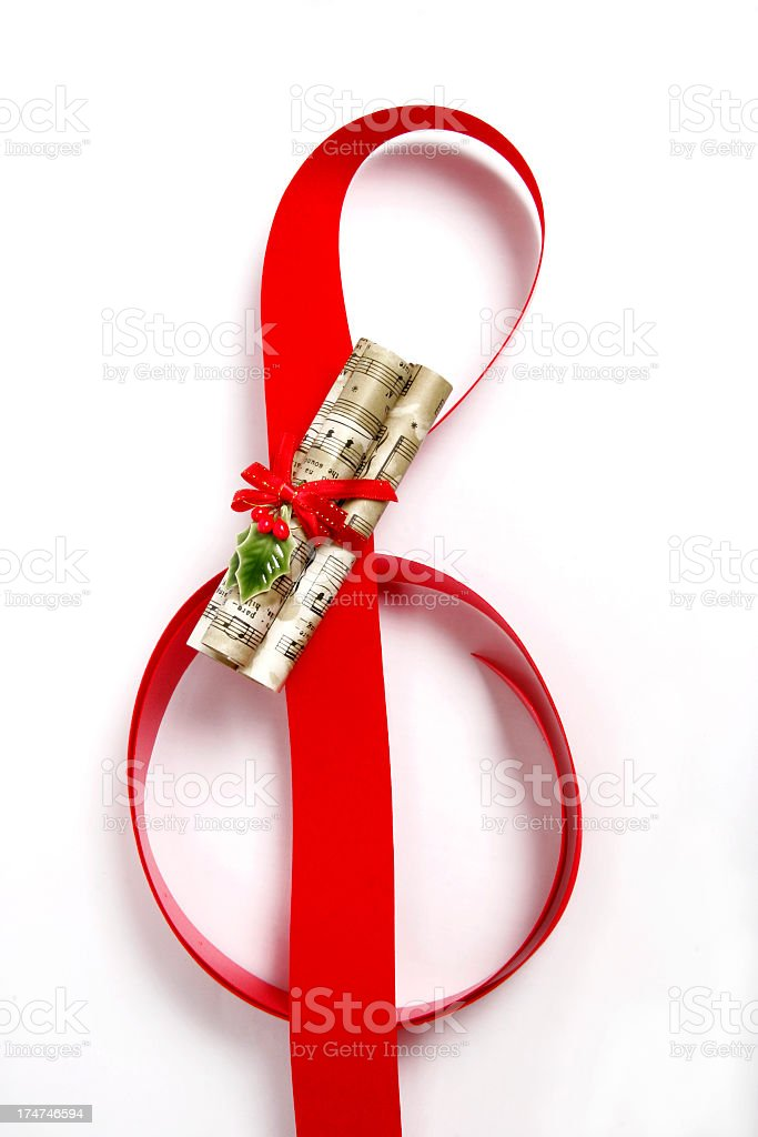 Christmas Music Clef 1 royalty-free stock photo