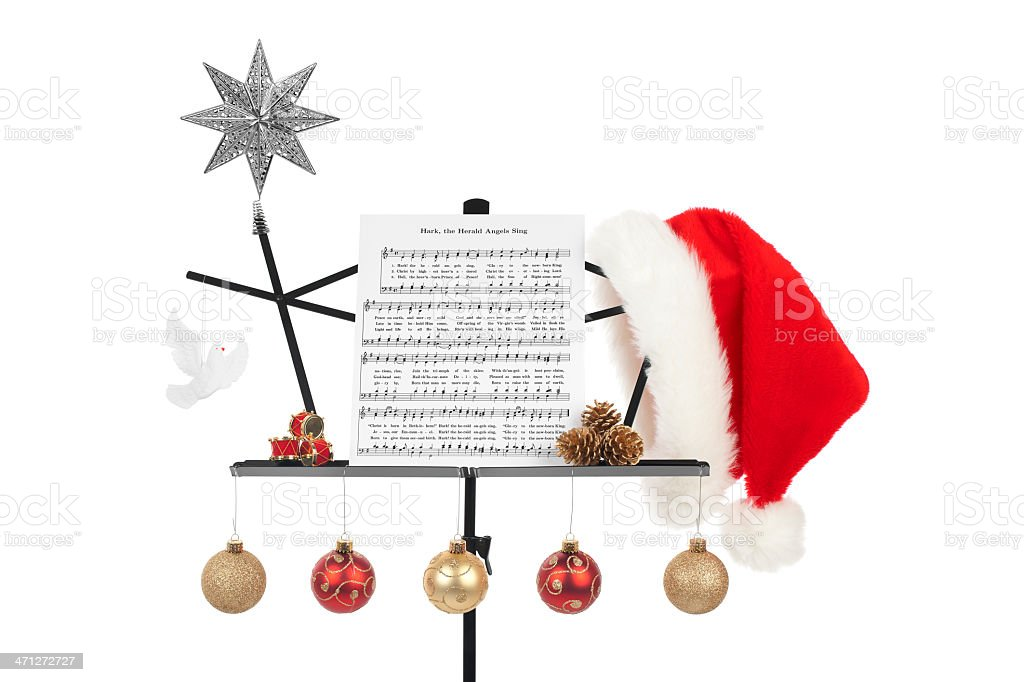 Christmas Music Stand Isolated stock photo