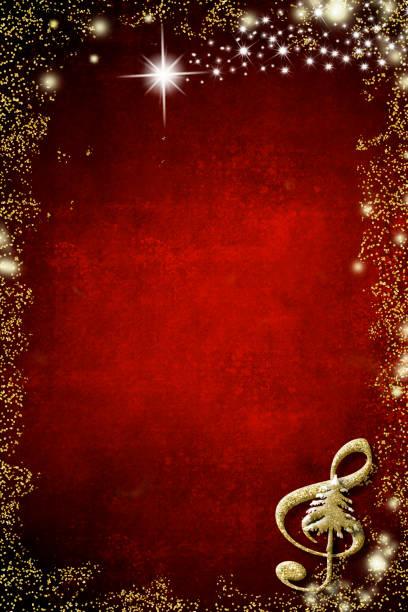 Fond musical de Noël, fond. - Photo