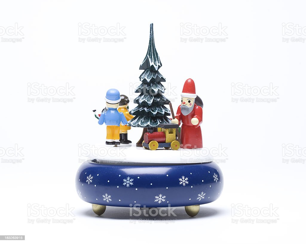 Christmas Musical Box stock photo