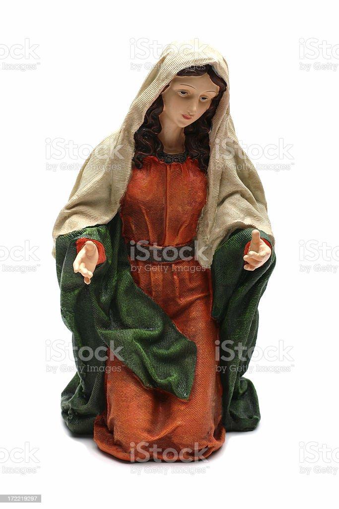 Christmas Nativity (Mary) royalty-free stock photo