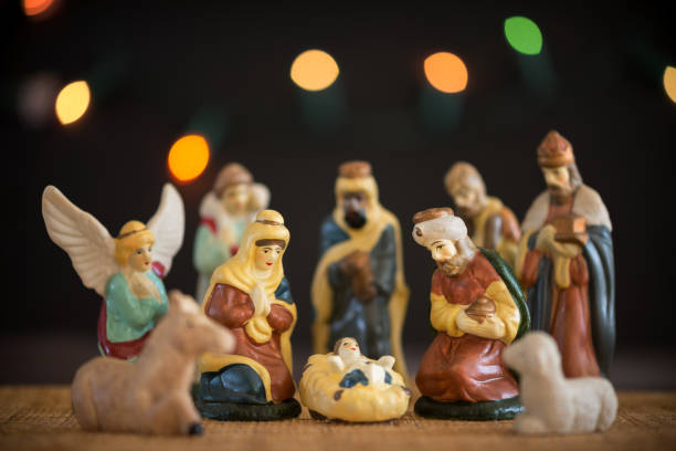 Christmas Nativity Scene Creche stock photo