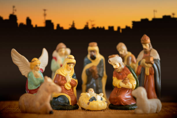 Christmas Nativity Scene Creche stock photo