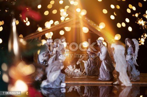 istock Christmas nativity scene; Jesus Christ, Mary and Joseph 1180630754