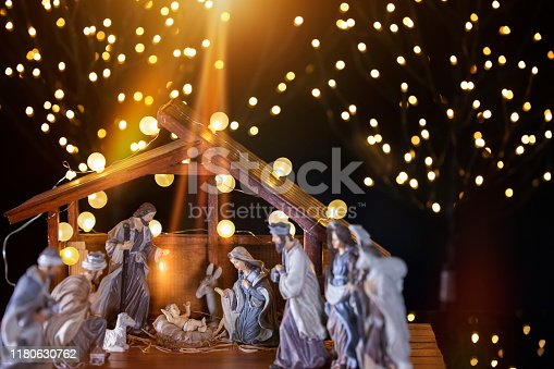istock Christmas nativity scene; Jesus Christ, Mary and Joseph 1180630762