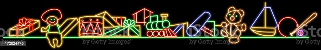 Christmas neon gift royalty-free stock photo