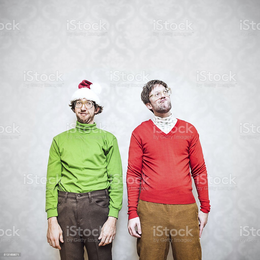 Christmas Nerds stock photo