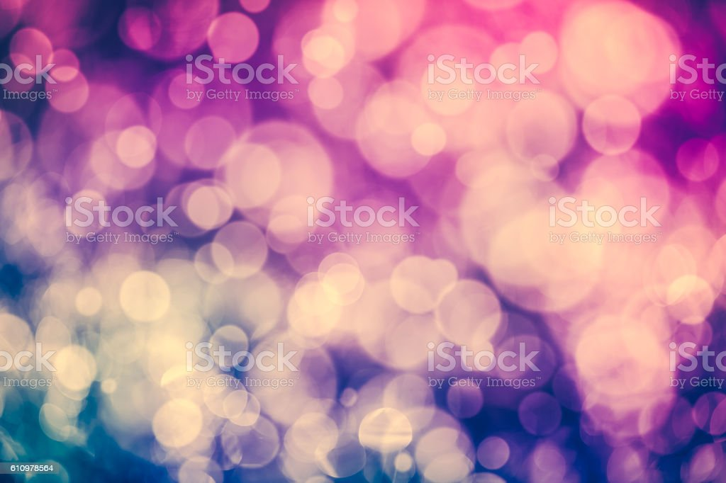 Christmas New Year background. Purple bokeh abstract background. stock photo