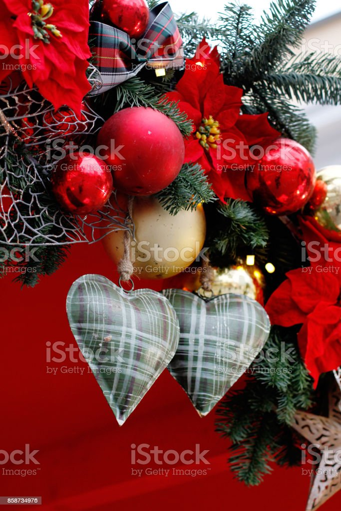 Christmas New Year's toys stock photo