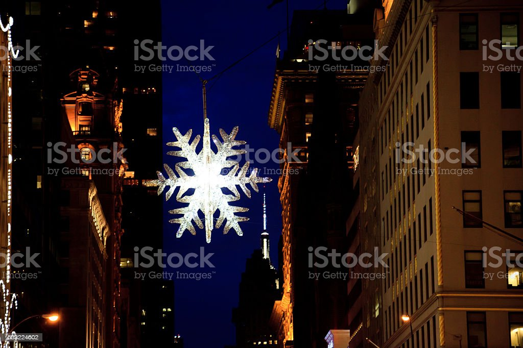 Christmas New York stock photo