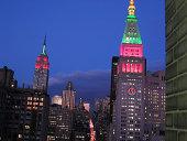 night skyline in new york