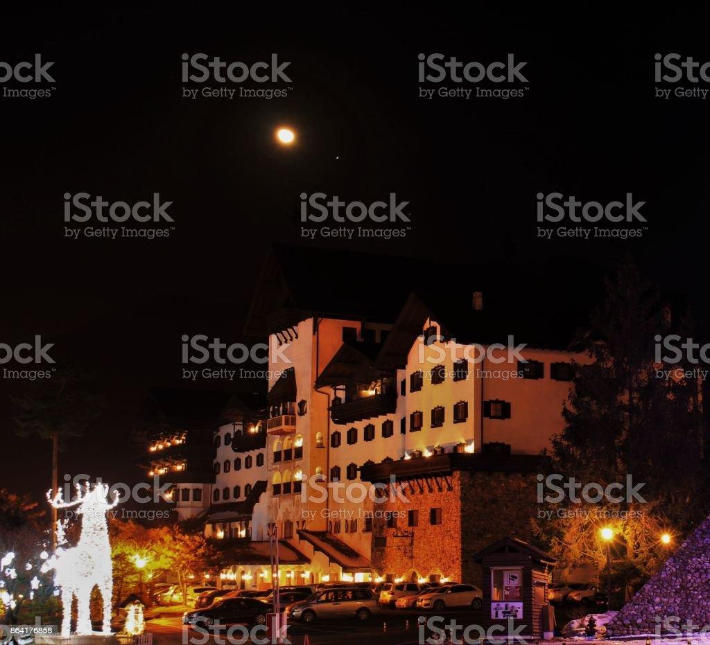 Christmas night city landscape royalty-free stock photo