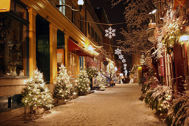 Notte di Natale a Quebec City - foto stock