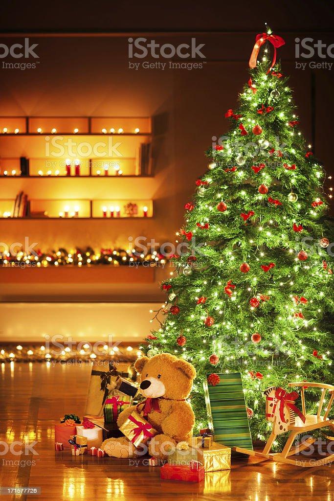 Christmas night royalty-free stock photo