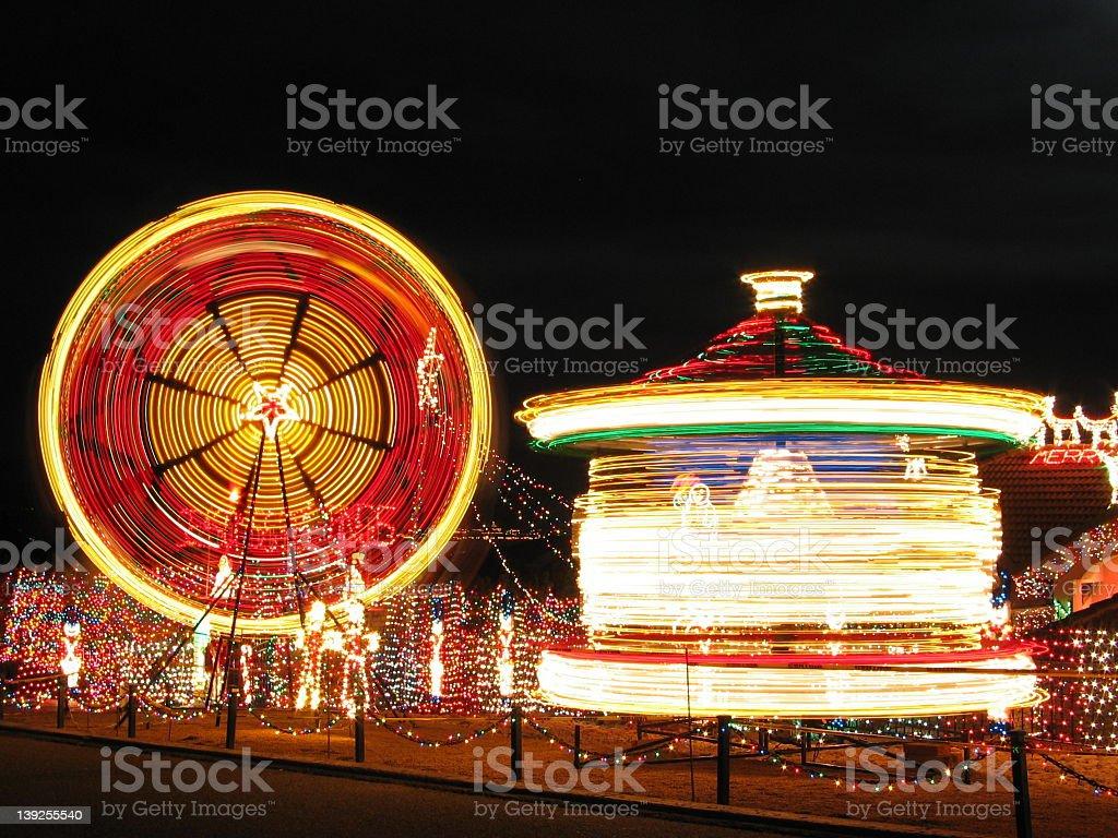 Christmas Night Scene royalty-free stock photo