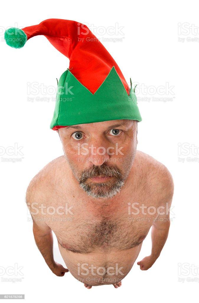 Christmas Nude Elf photo libre de droits