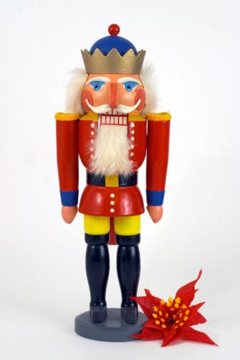 Christmas Nutcracker & Poinsettia