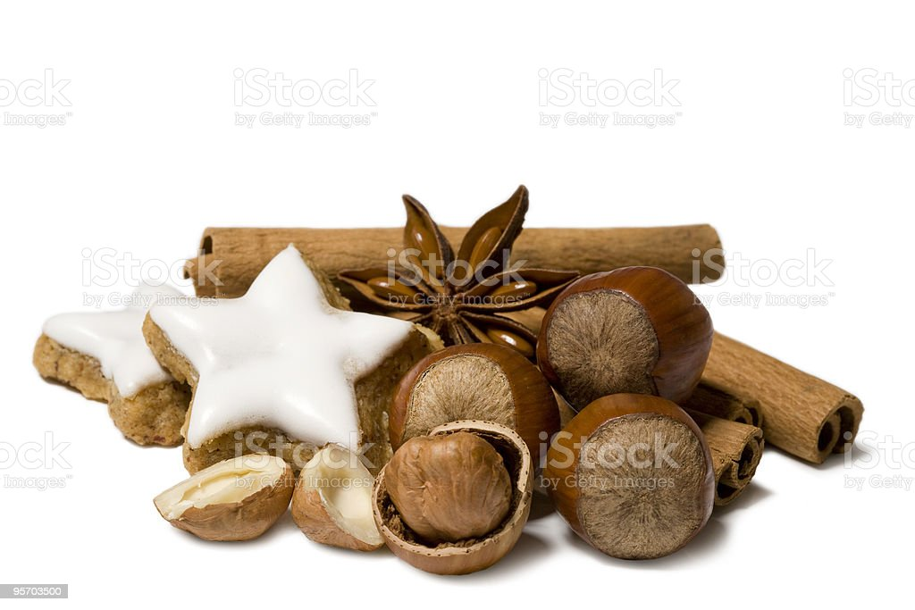 Christmas nuts decoration royalty-free stock photo