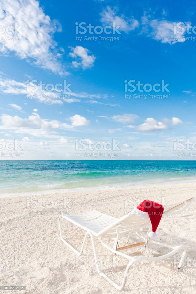 christmas on the beach in the bahamas royalty free stock photo