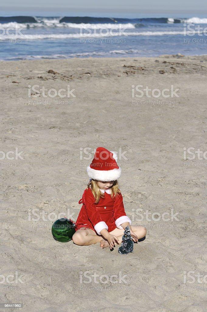 Natal na praia Series - Foto de stock de Areia royalty-free