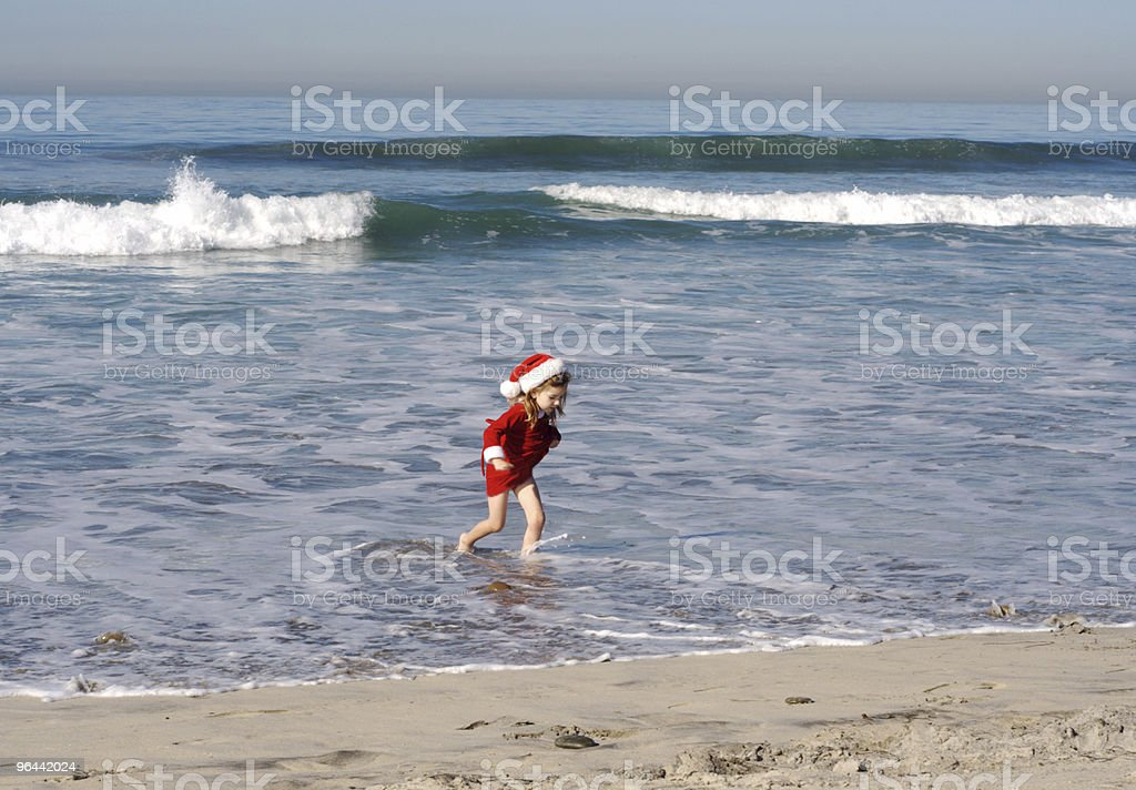 Christmas on the Beach  Series - Royalty-free 4-5 Years Stock Photo