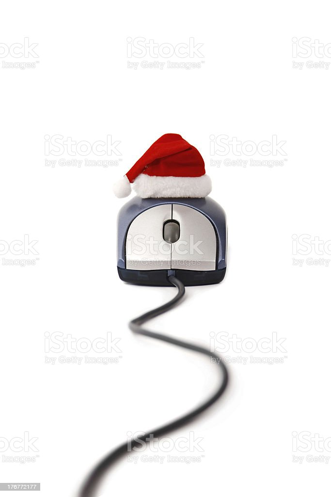 Christmas on-line time royalty-free stock photo