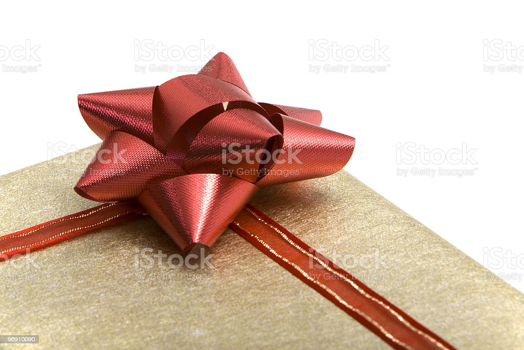 Christmas or birthday present royalty-free stock photo
