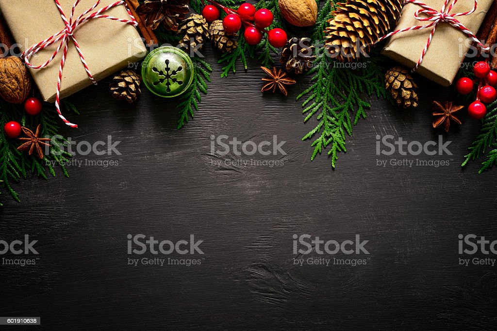 Christmas or New Year background stock photo