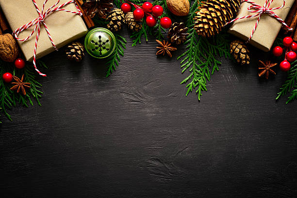 christmas or new year background - christmas stock photos and pictures