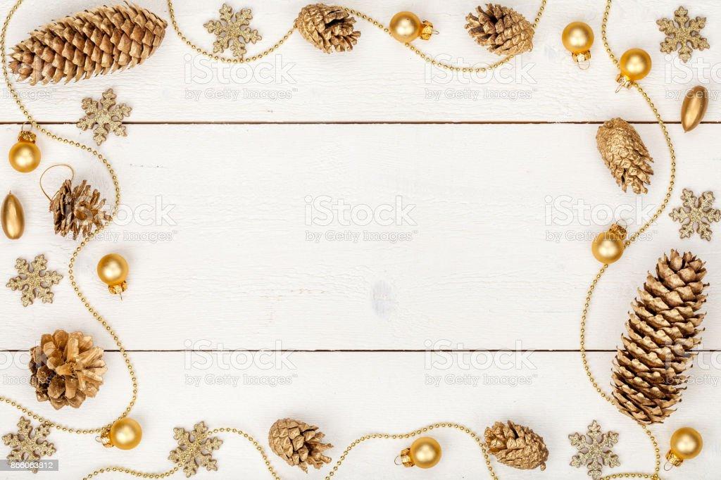 Fotografía de Composición Marco De Navidad O Año Nuevo Decoraciones ...
