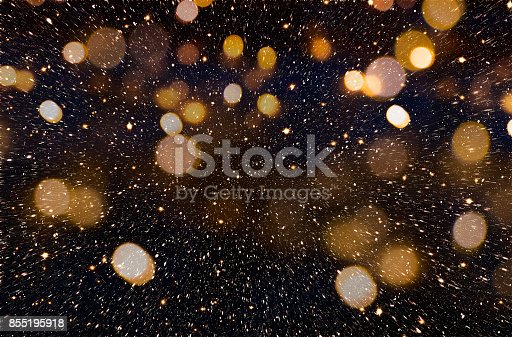 istock Christmas or New Year golden background 855195918