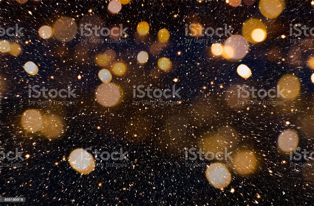 Christmas or New Year golden background stock photo