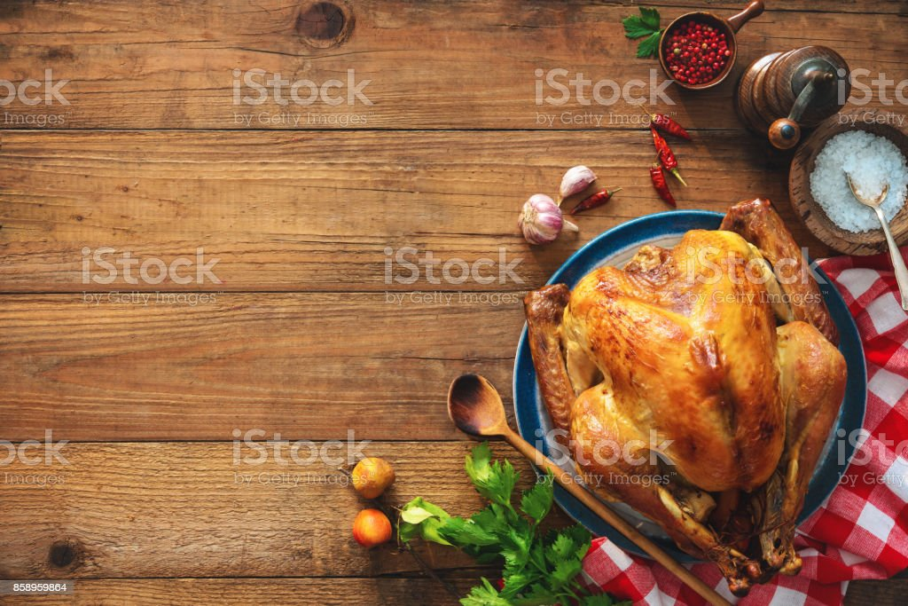 Christmas or Thanksgiving turkey stock photo