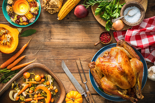 Christmas Or Thanksgiving Turkey Stock Photo - Download Image Now