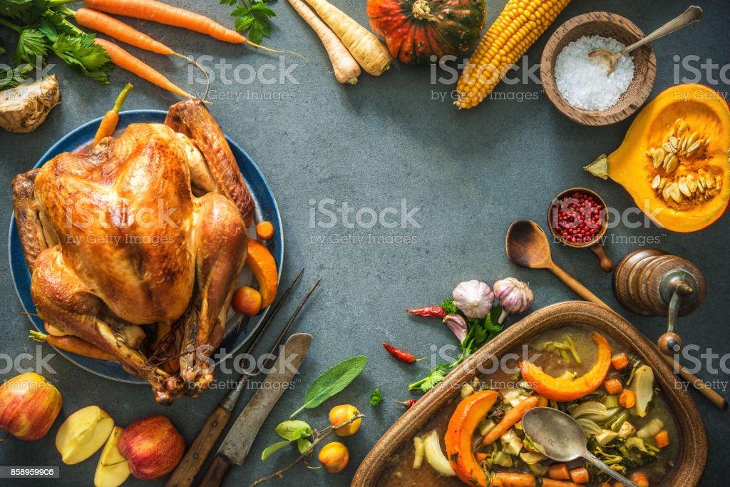 Christmas or Thanksgiving turkey stock photo