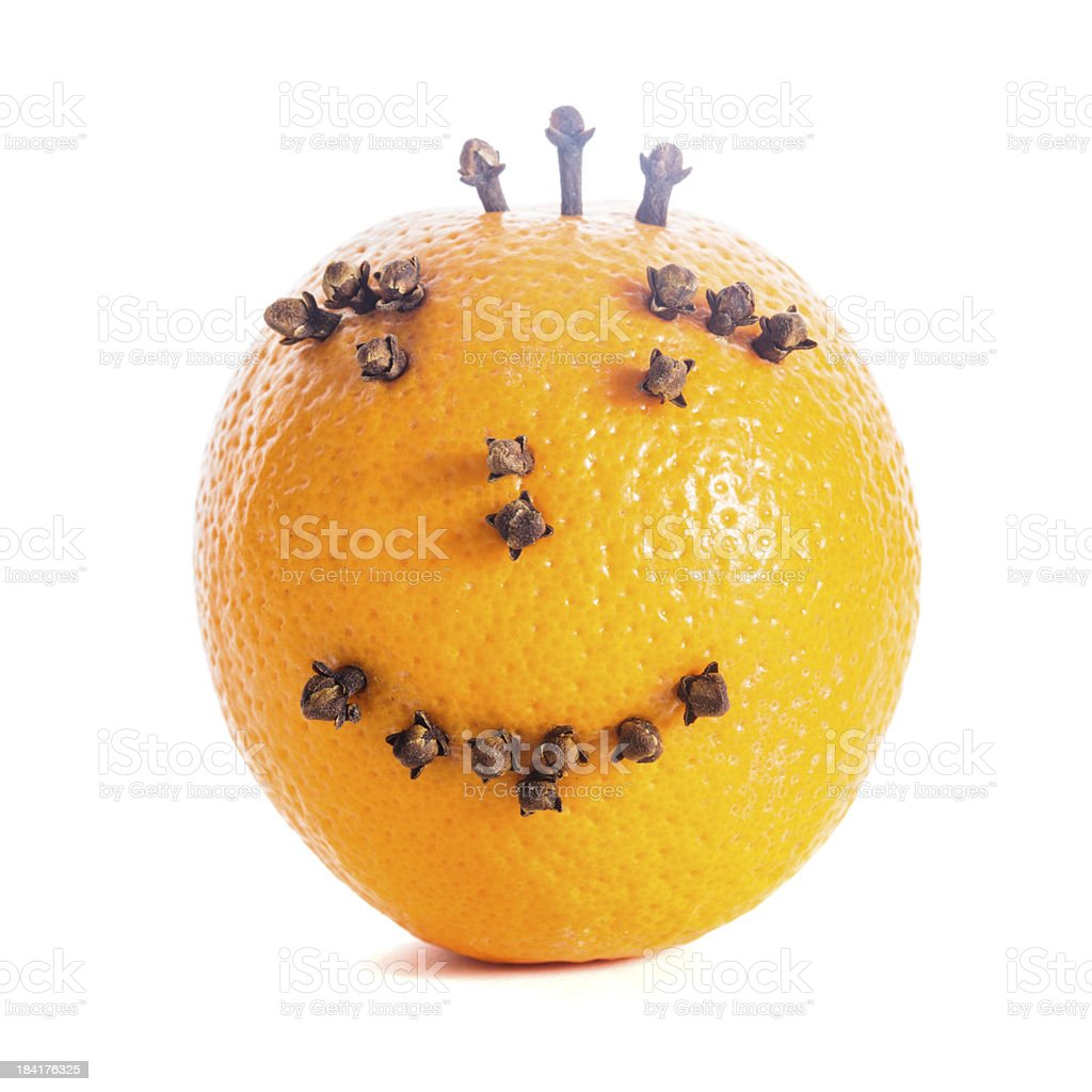 Christmas orange face royalty-free stock photo