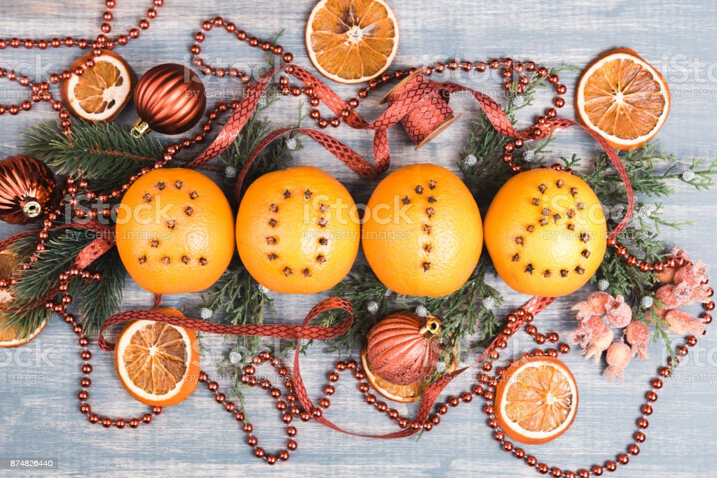 christmas oranges with figures 2018 royalty free stock photo - Christmas Oranges