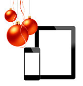 istock Christmas Ornament(Christmas Ball & Ribbon) & Digital Devices 686900530