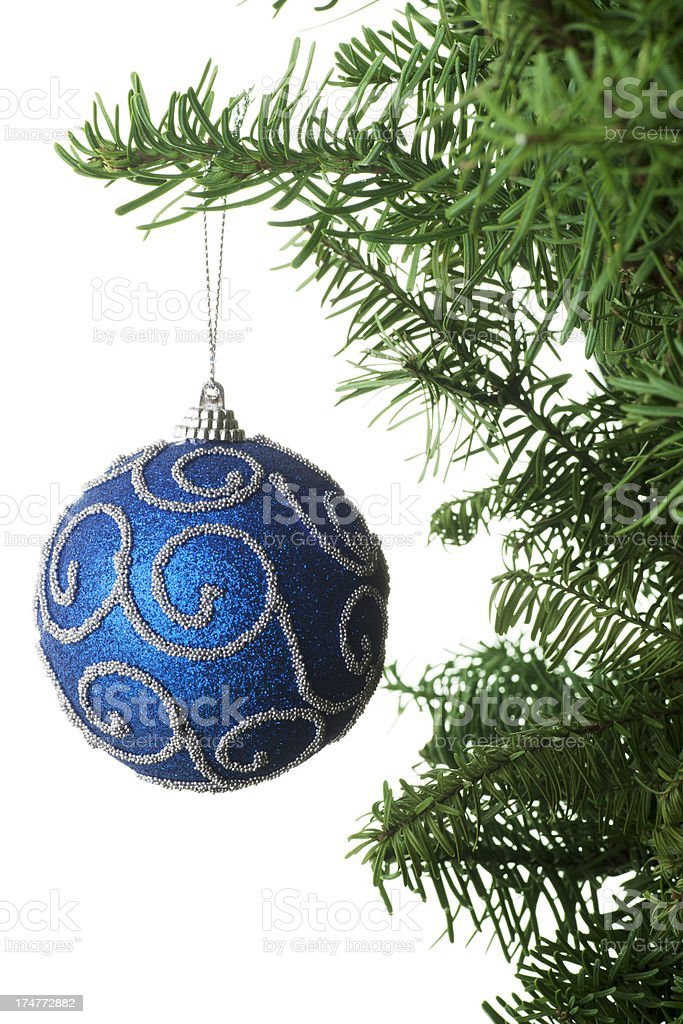 Christmas Ornament Hanging on a Tree royalty-free stock photo
