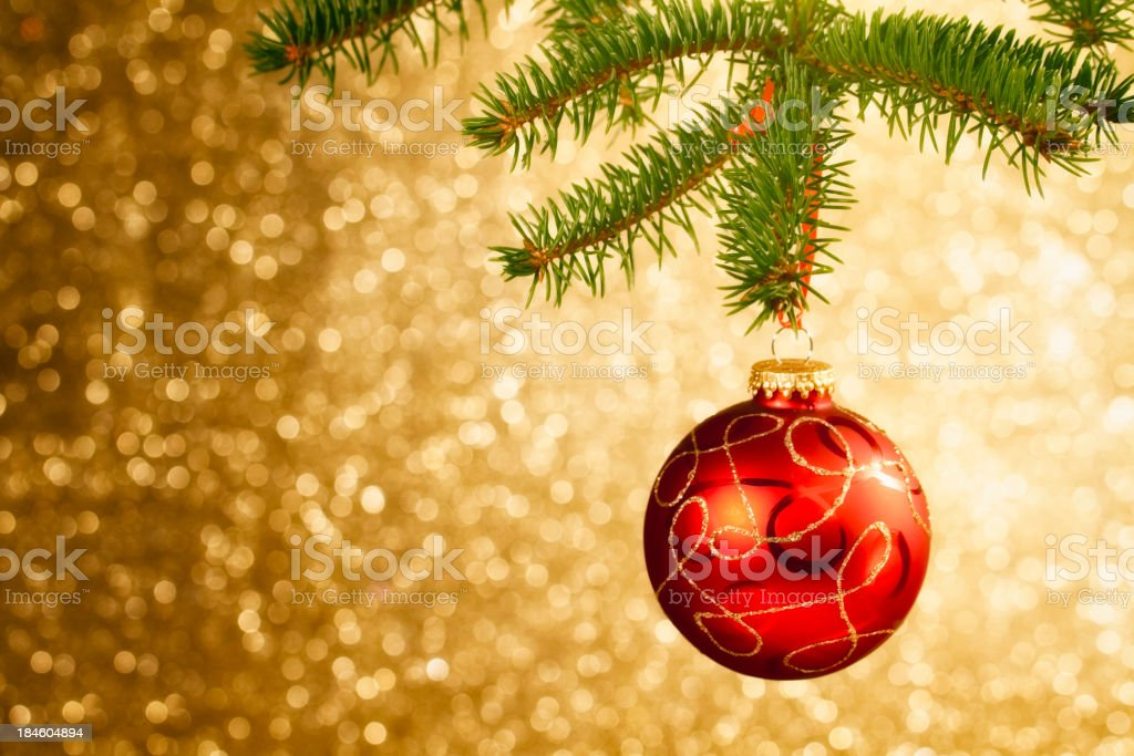 Christmas Ornament Hanging on Tree royalty-free stock photo