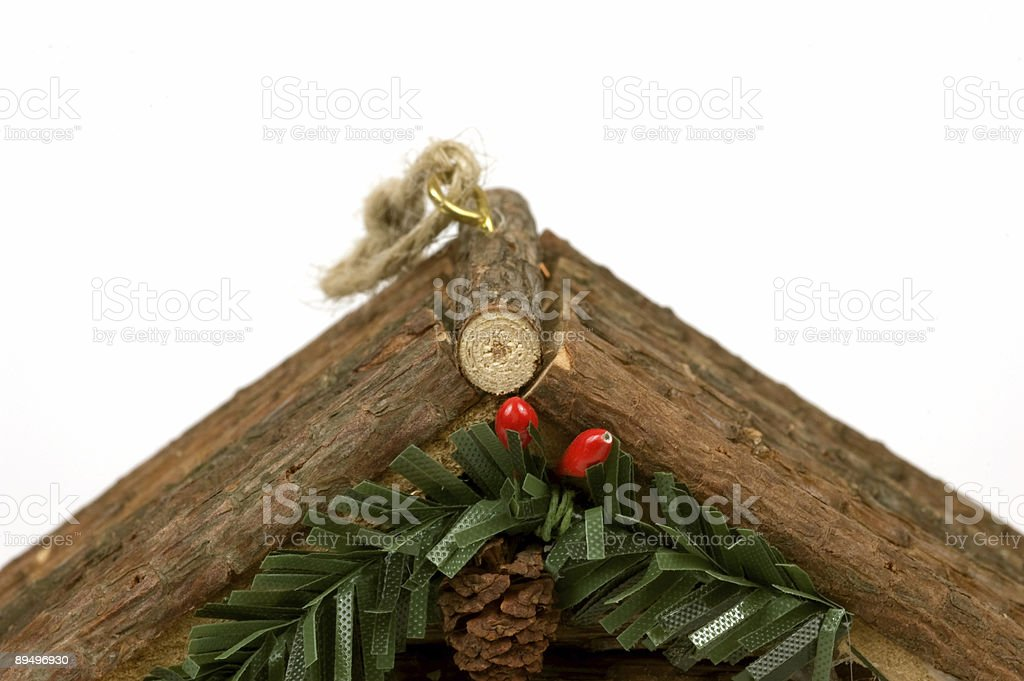 Christmas Ornament House royalty free stockfoto