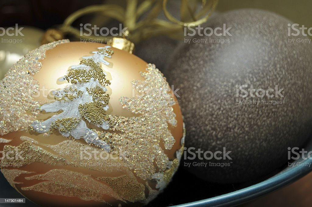 Christmas Ornament Laying In Bowl stock photo