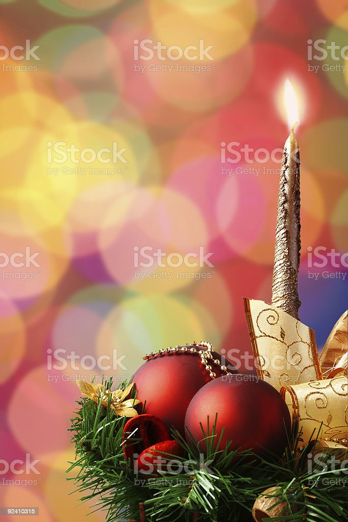 Christmas ornament on defocused lights background royalty-free stock photo