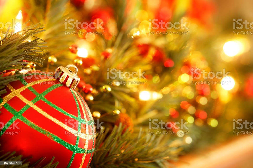 Christmas Ornament On  Mantelpiece stock photo