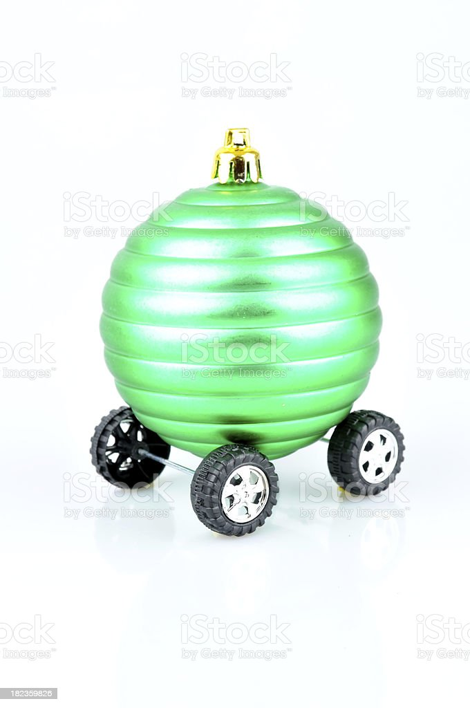 Christmas Ornament on wheels royalty-free stock photo